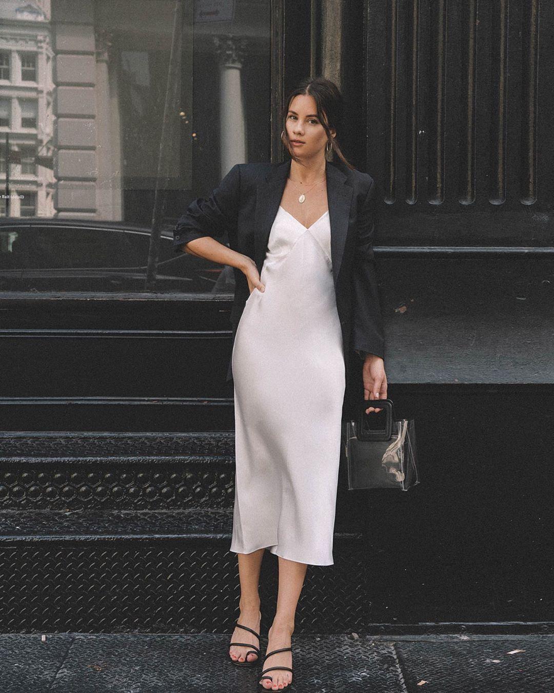 Sarah Christine slip dress áo blazer