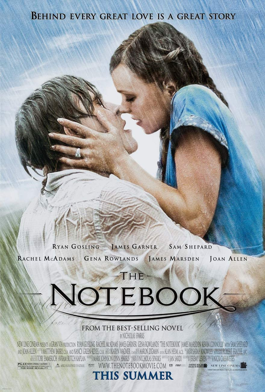 bài học tình yêu trong phim tình cảm The Notebook