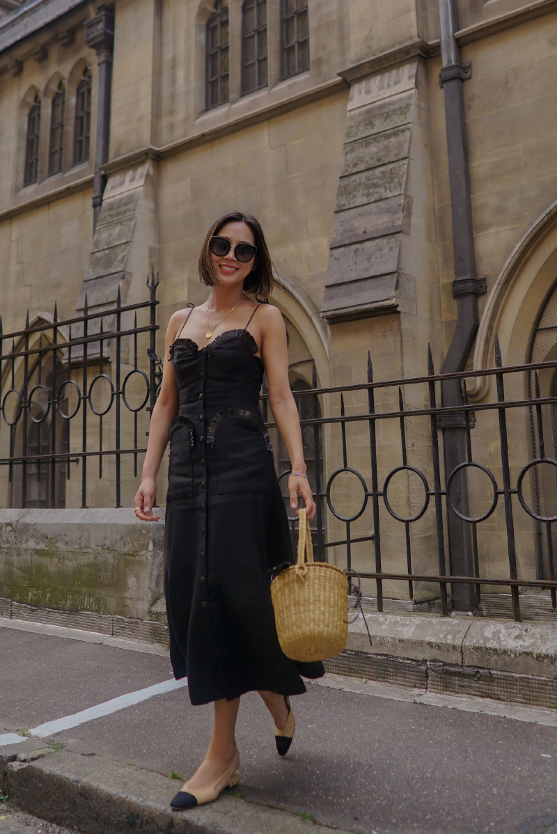 slip dress Aimee Song túi cói