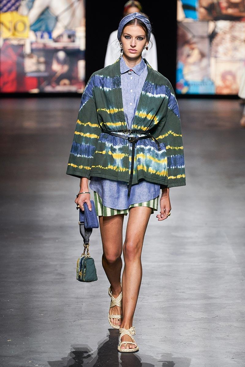 Christian Dior Runway mùa Xuân 2021 tie dye