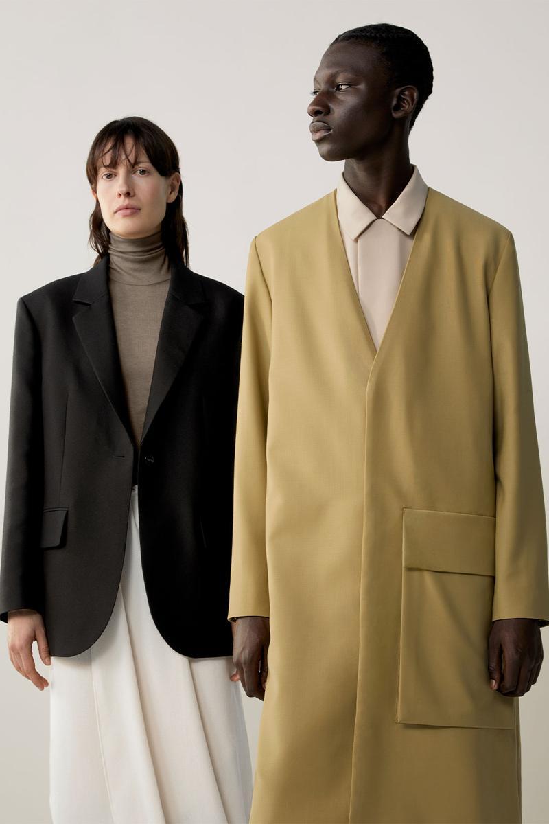 COS Thu Đông 2020 blazer và áo choàng