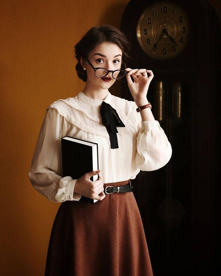 áo cổ bèo vintage