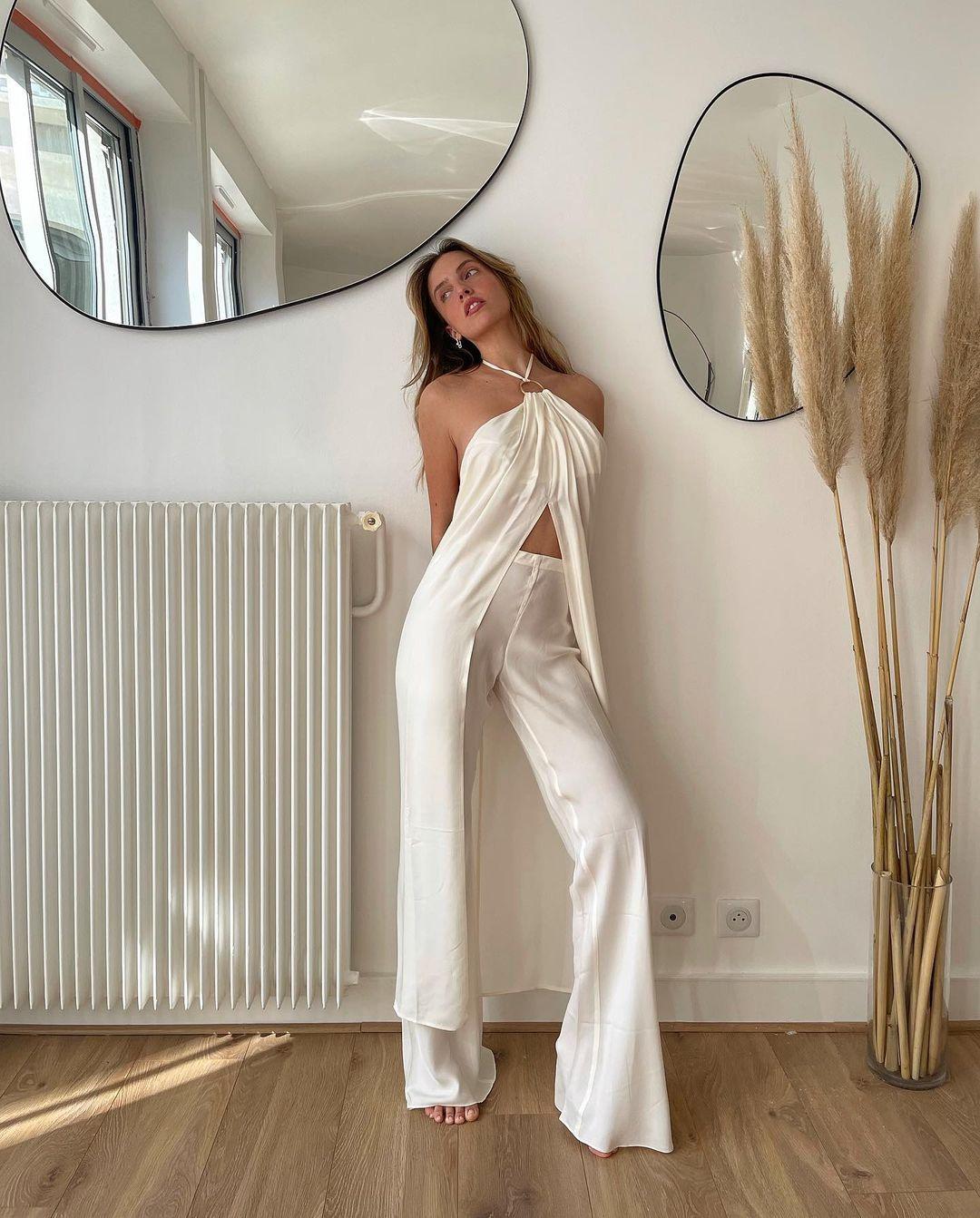 quần âu ống loe vintage