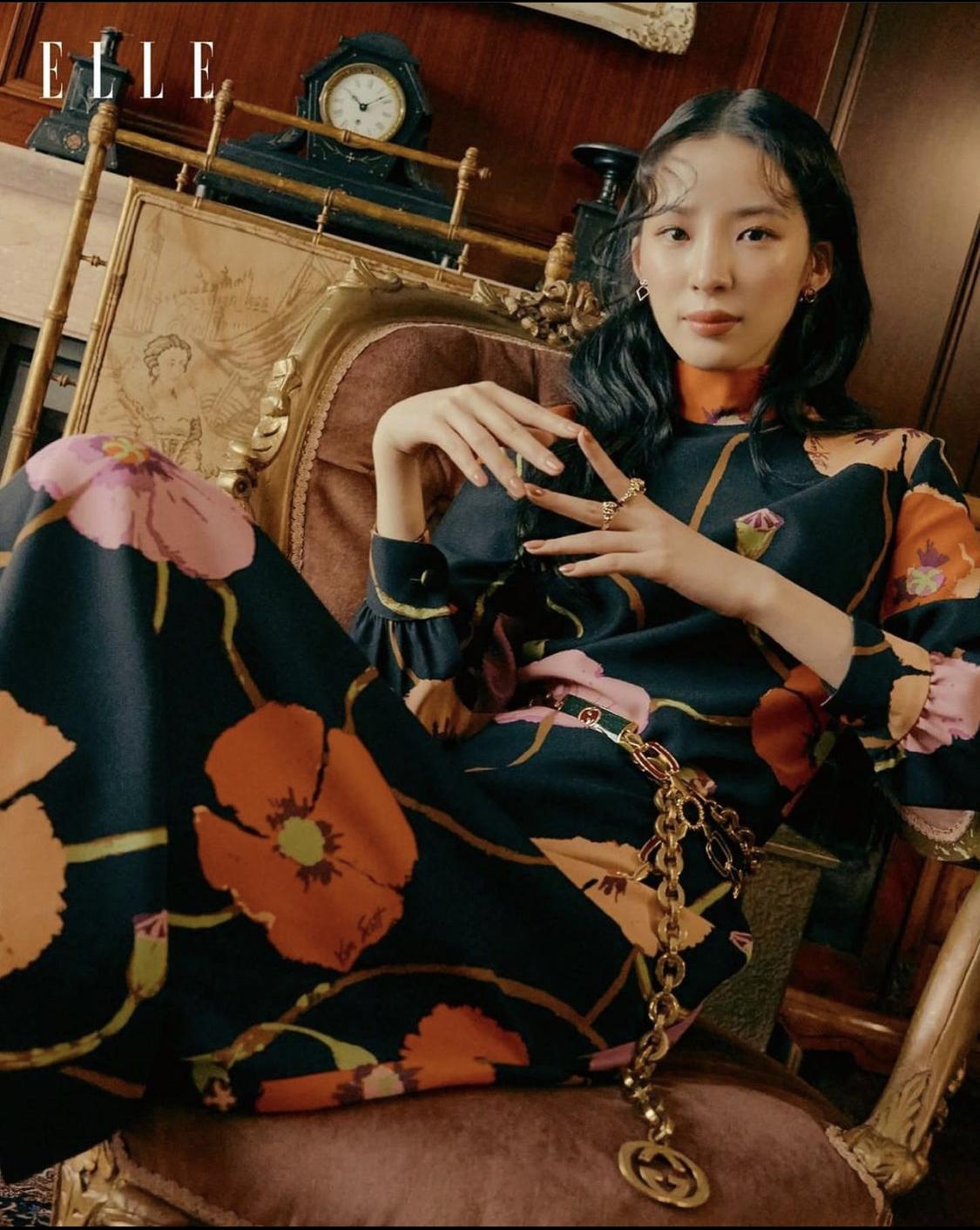 đầm hoa to ELLE Hong Kong