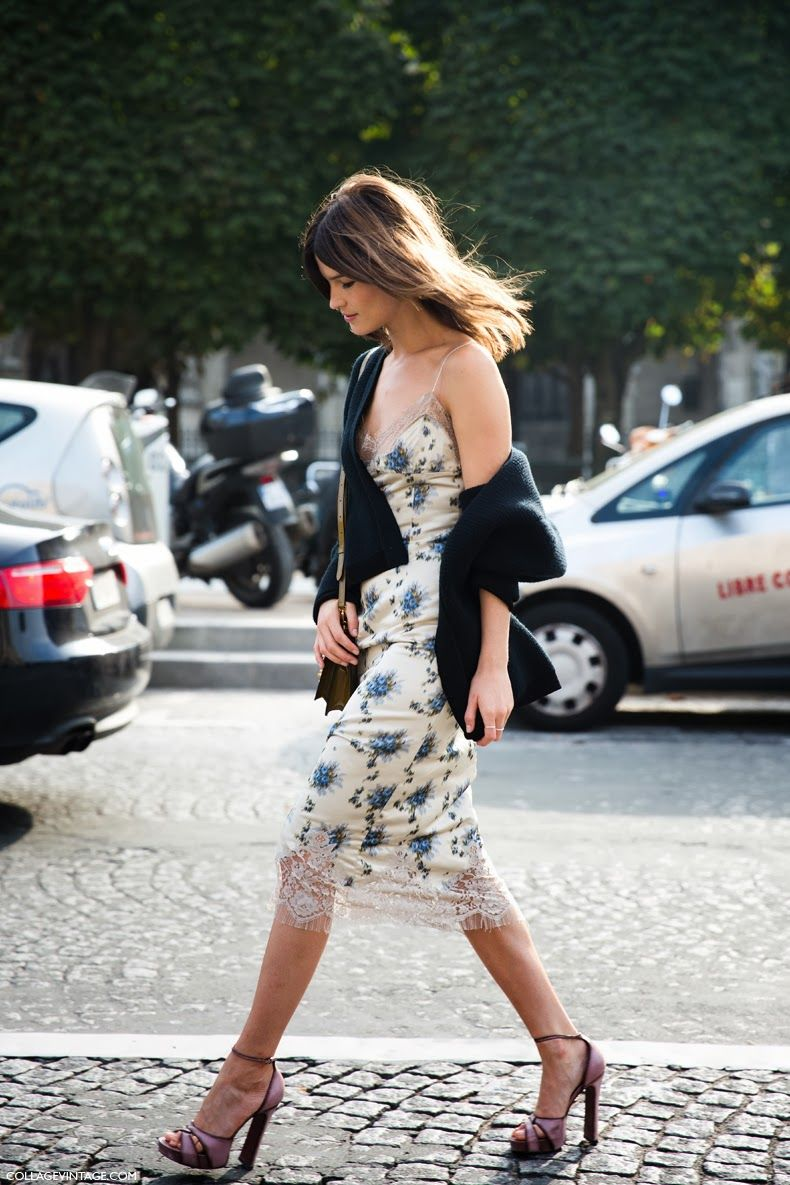 slip dress hoạ tiết floral