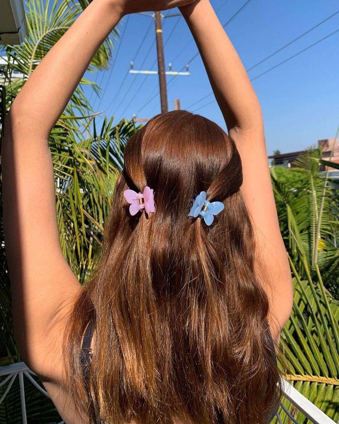 kẹp tóc nhựa bươm bướm