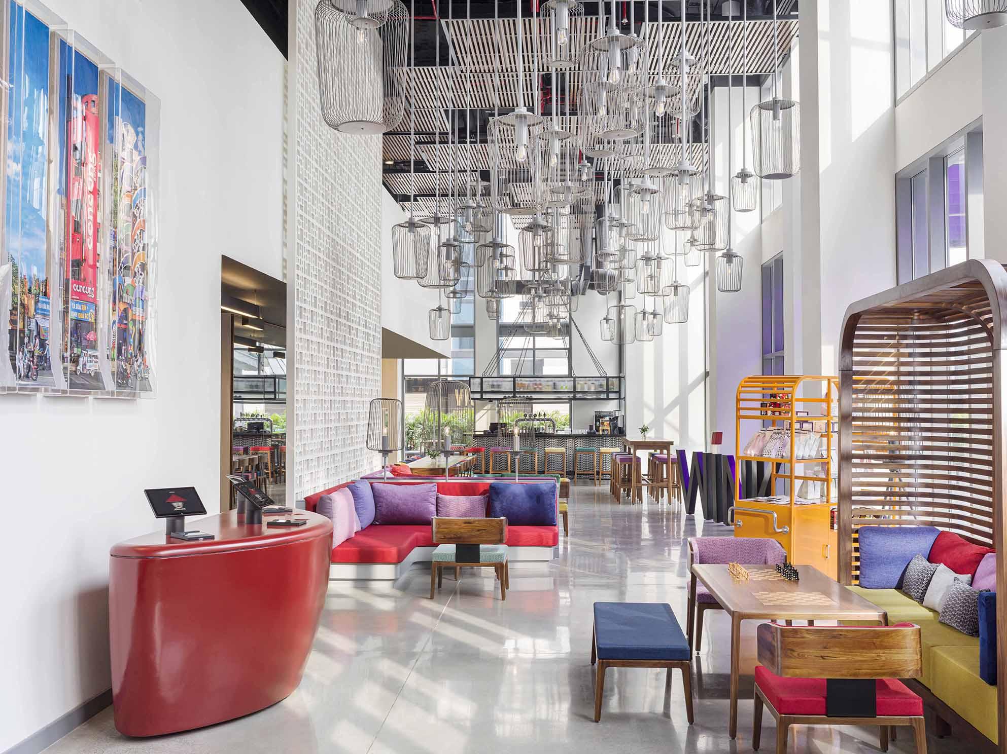 không gian khách sạn Wink Hotels