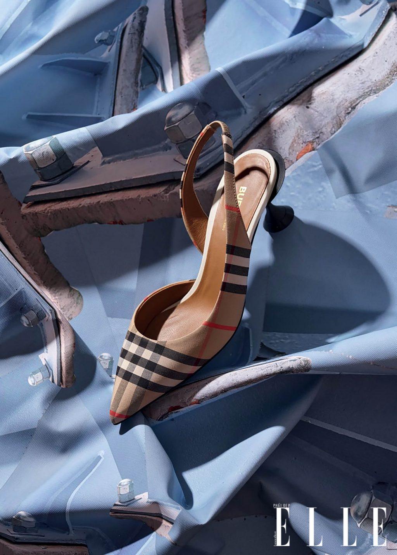 phụ kiện giày slingback Burberry