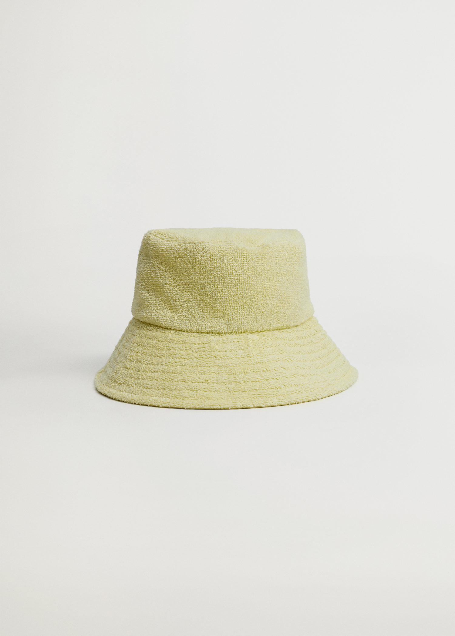 Mũ xô vải tweed Mango