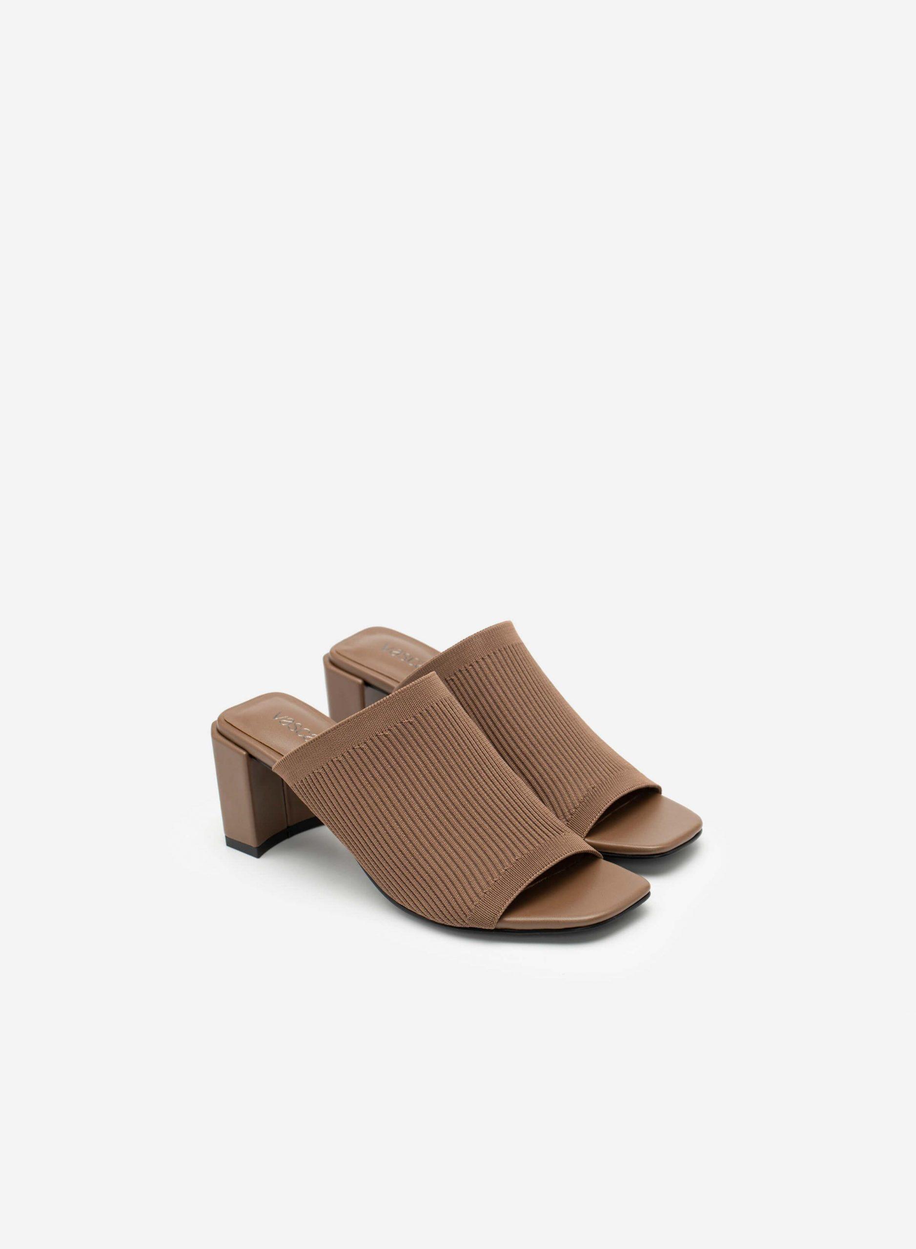 giày hở gót dệt kim vascara