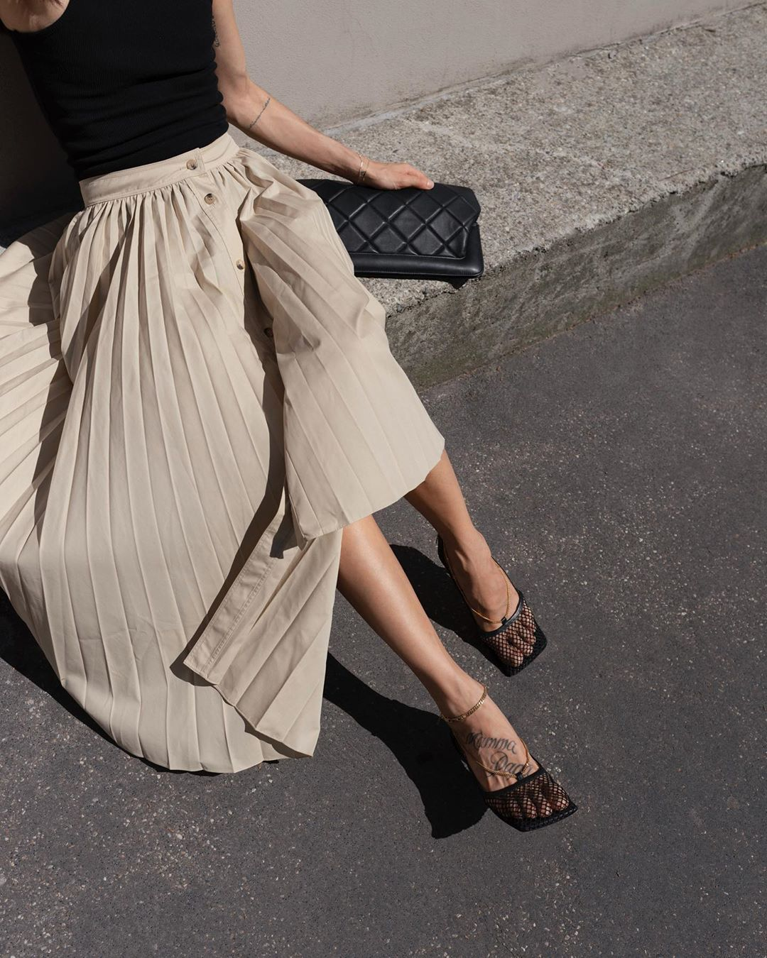 casual wear pleated skirts