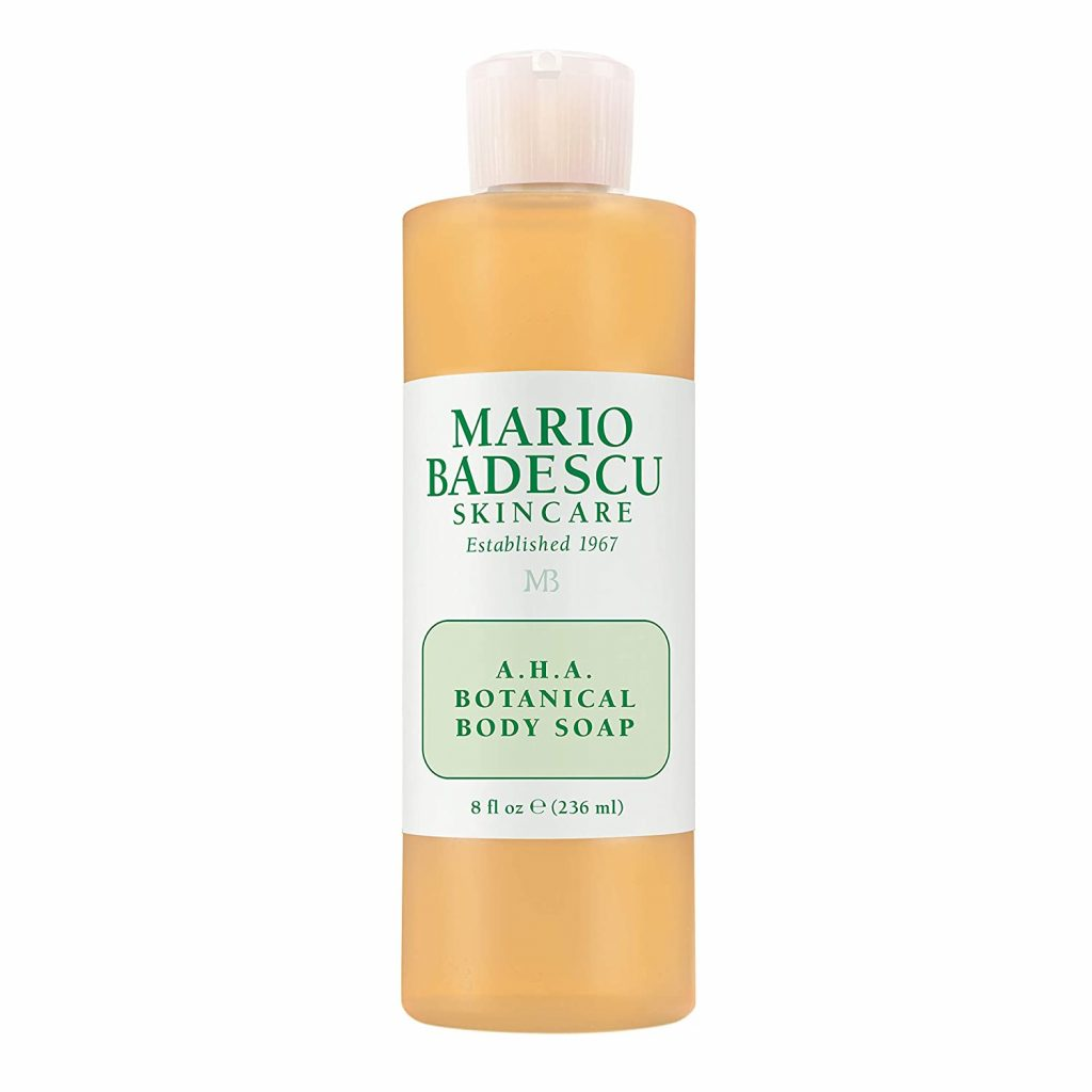Gel tắm có chứa AHA như Mario Badescu AHA Botanical Body Soap giúp điều trị mụn lưng hiệu quả