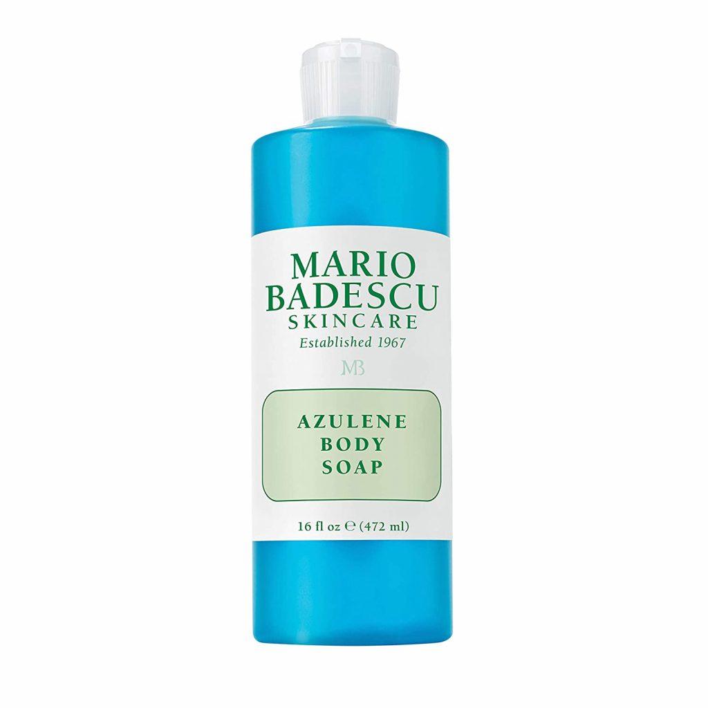 Mario Badescu Azulene Body Soap là một trong lựa chọn tối ưu cho tình trạng mụn lưng