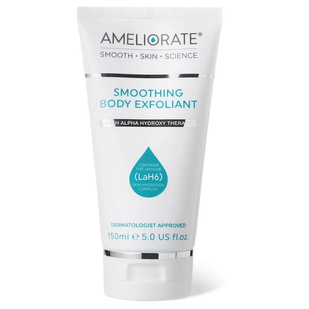 Tẩy tế bào chết cùng Ameliorate Smoothing Body Exfoliant giúp giảm mụn lưng đáng kể