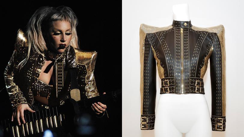 Lady Gaga áo khoác da