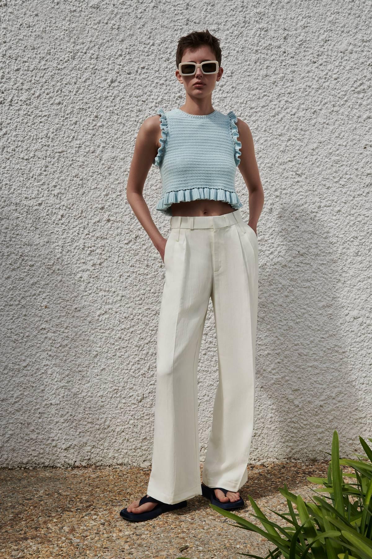 Áo đan móc kiểu crochet