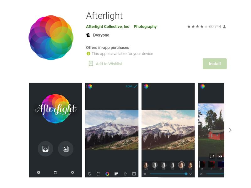 ứng dụng chỉnh ảnh nên có afterlight