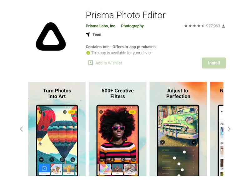 ứng dụng chỉnh ảnh nên có prisma
