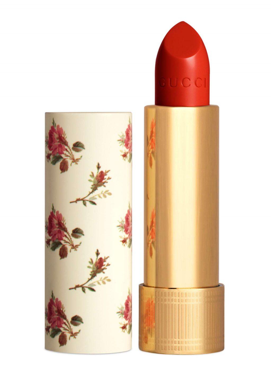 Màu son cam cháy - Gucci Rouge à Lèvres Voile Lipstick
