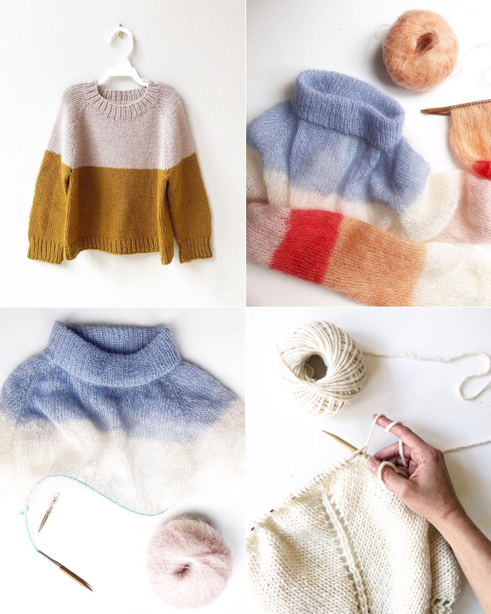 Tài khoản Instagram @maisondene truyền cảm hứng đan len
