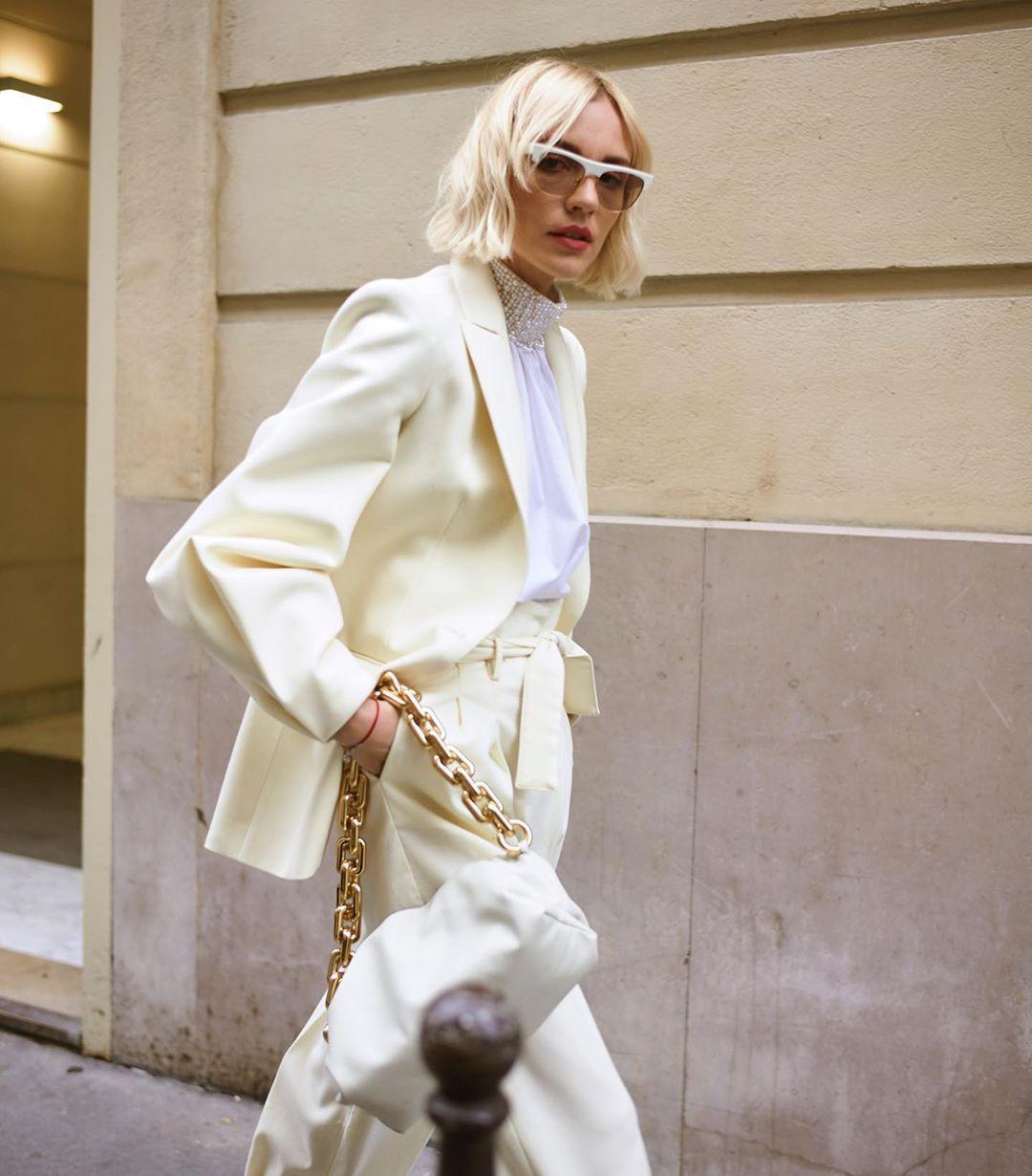 Large chain strap bag Bottega Veneta