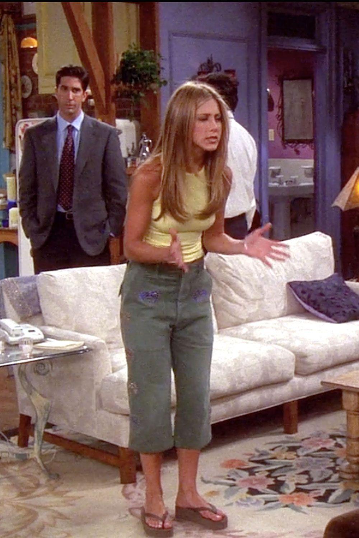 Rachel Green quần thụng jeans