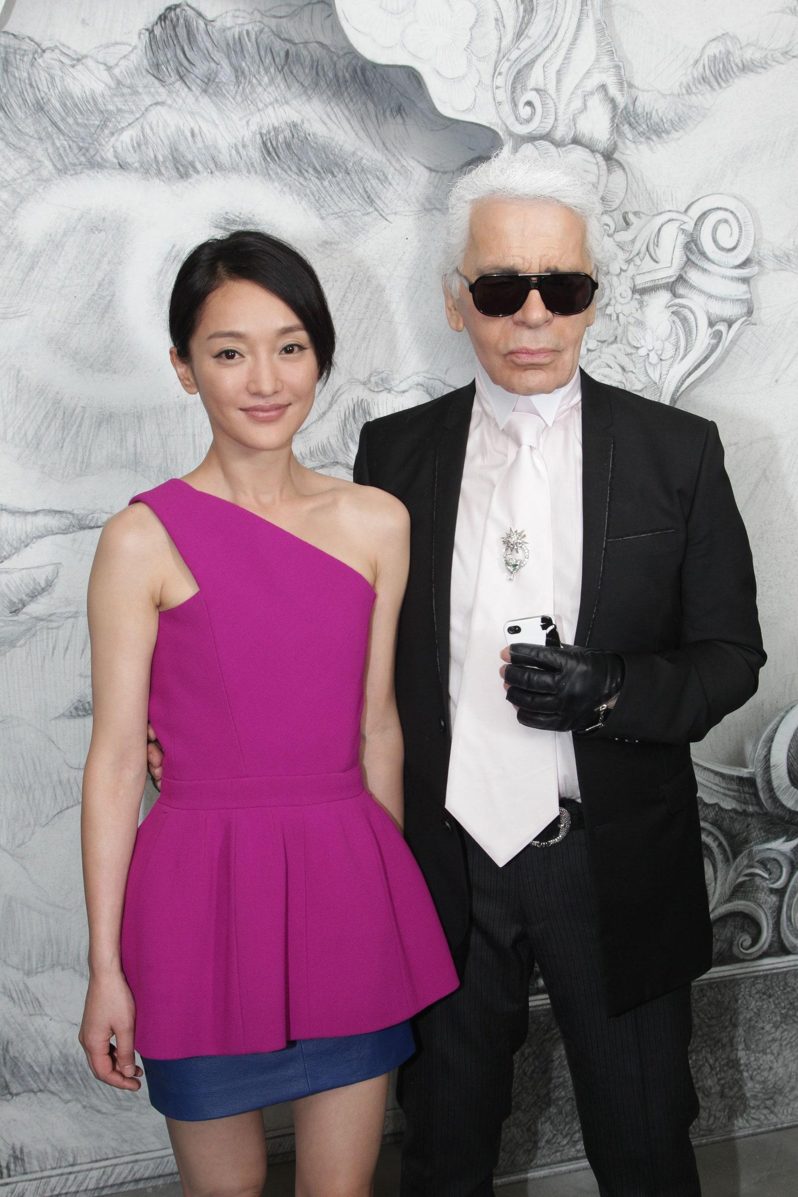 Châu Tấn gặp gỡ NTK Karl Lagerfeld