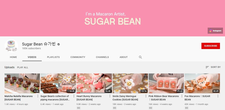 Kênh Youtube nấu ăn ASMR Sugar Bean 슈가빈