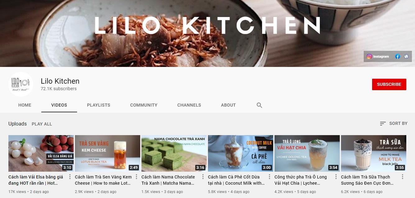 Kênh Youtube nấu ăn ASMR Lilo Kitchen