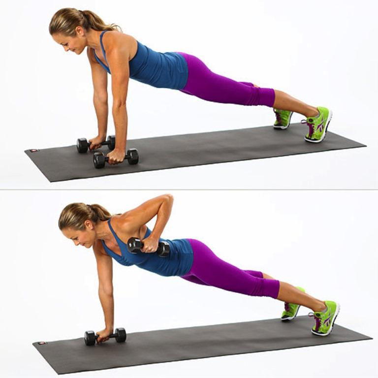 Bài tập ngực Plank nâng tay