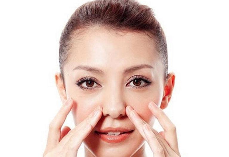 Bài tập massage mặt vùng mũi