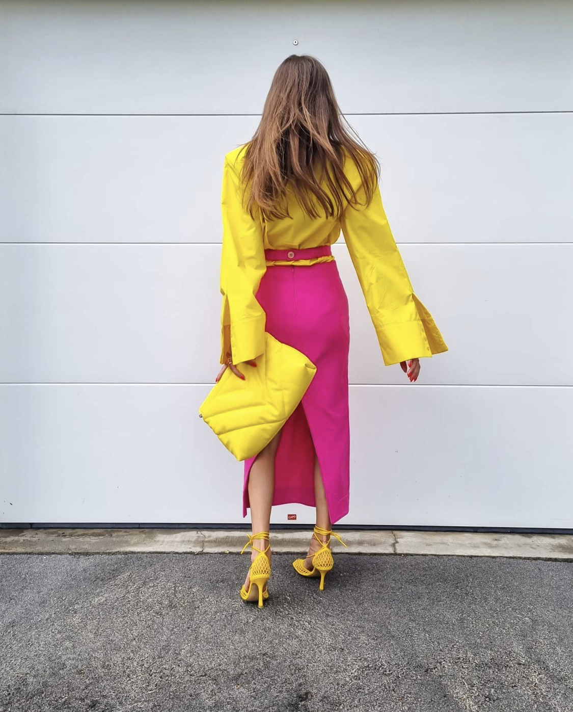 Nina Sandbech colorblocking
