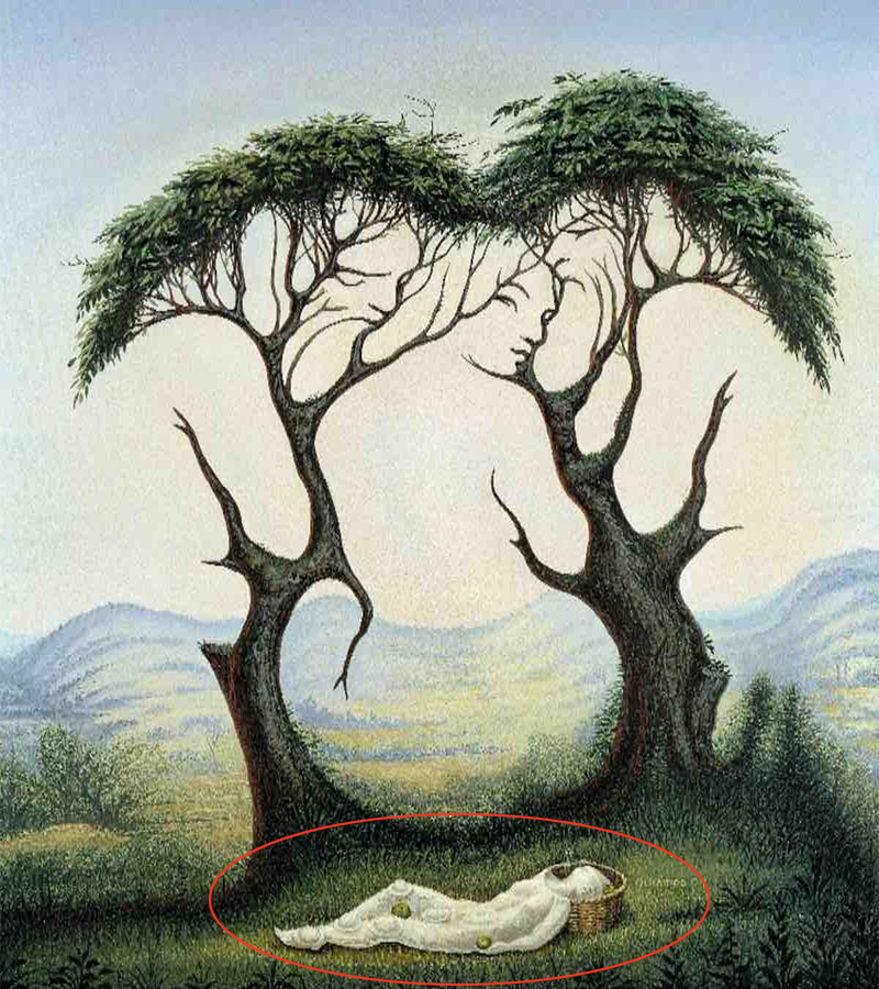 trắc nghiệm hình ảnh cô gái và cái cây 1