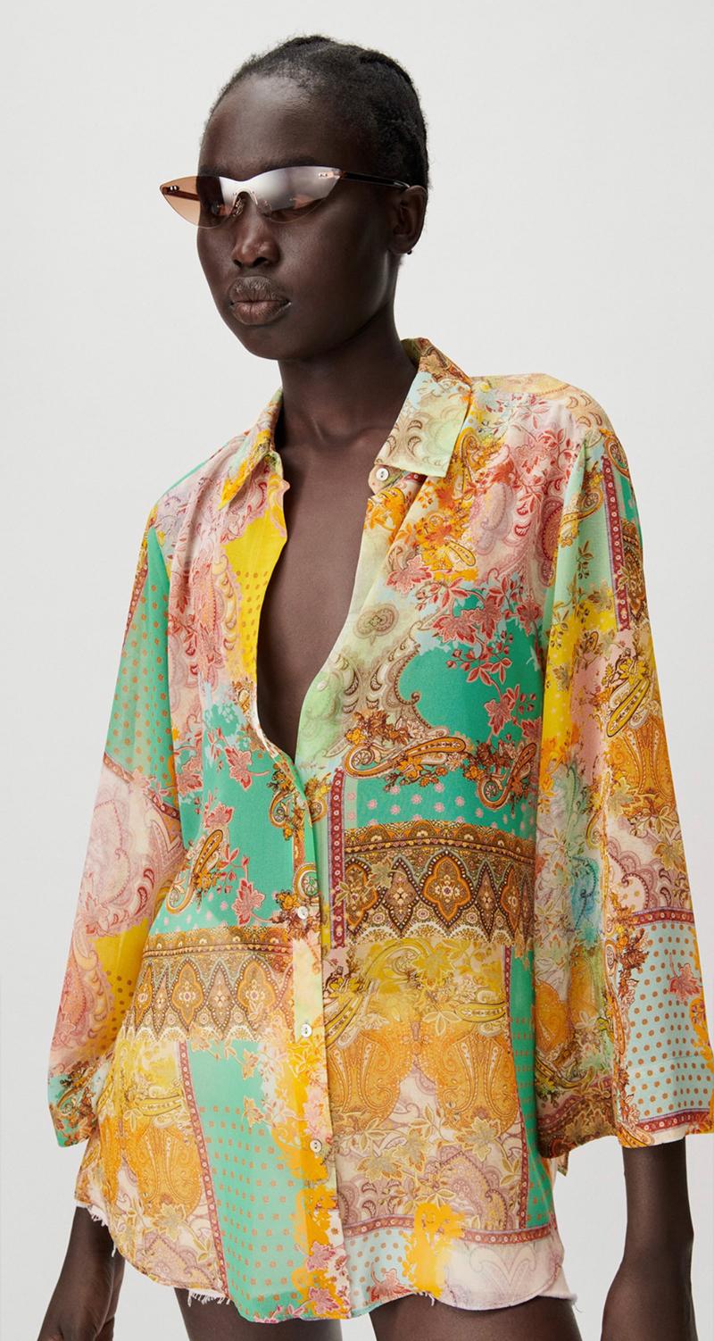 áo hoạ tiết Zara
