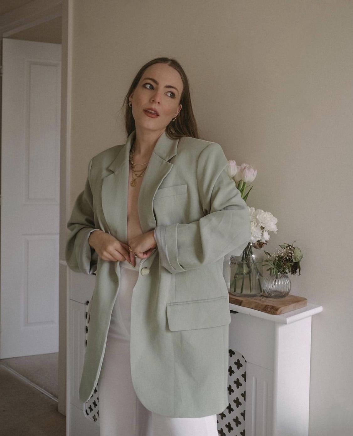 áo blazer màu mint