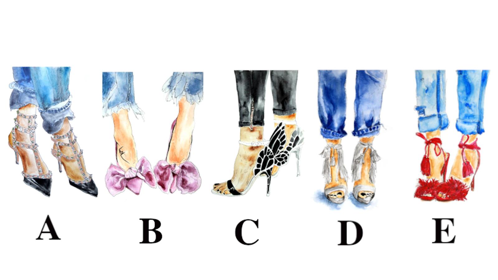 trắc nghiệm tính cách đôi giày