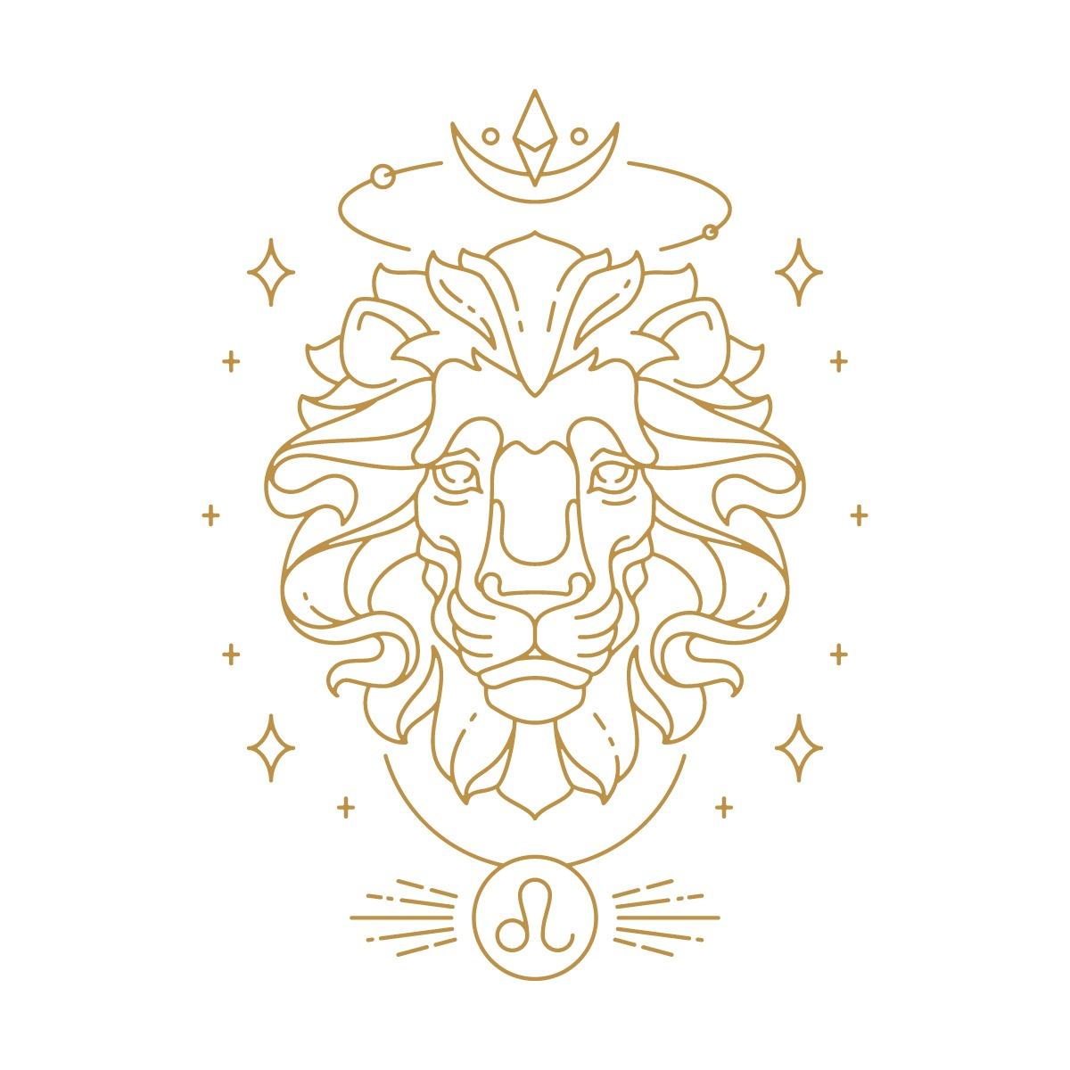 Hình ảnh đầu Sư Tử, biểu tượng cung hoàng đạo Sư Tử