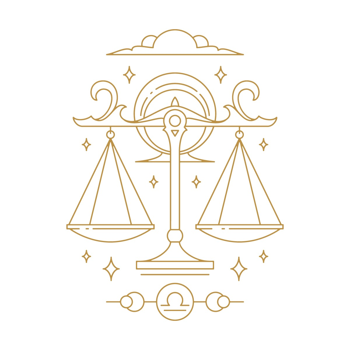 Hình ảnh cán cân công lý, biểu tượng cung Thiên Bình