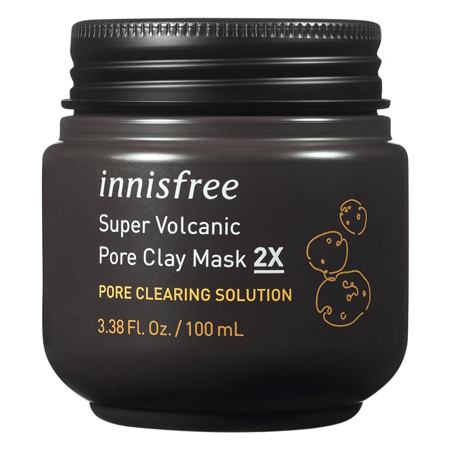 Innisfree Super Volcanic Pore Clay hỗ trợ làm giảm mụn đầu đen