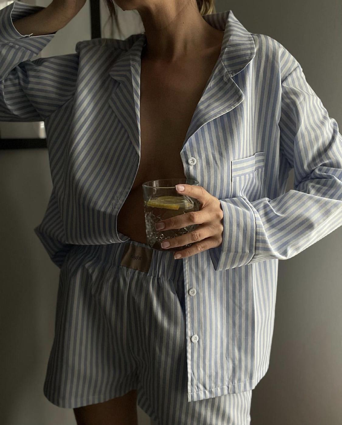 Cotton Pyjama kẻ sọc