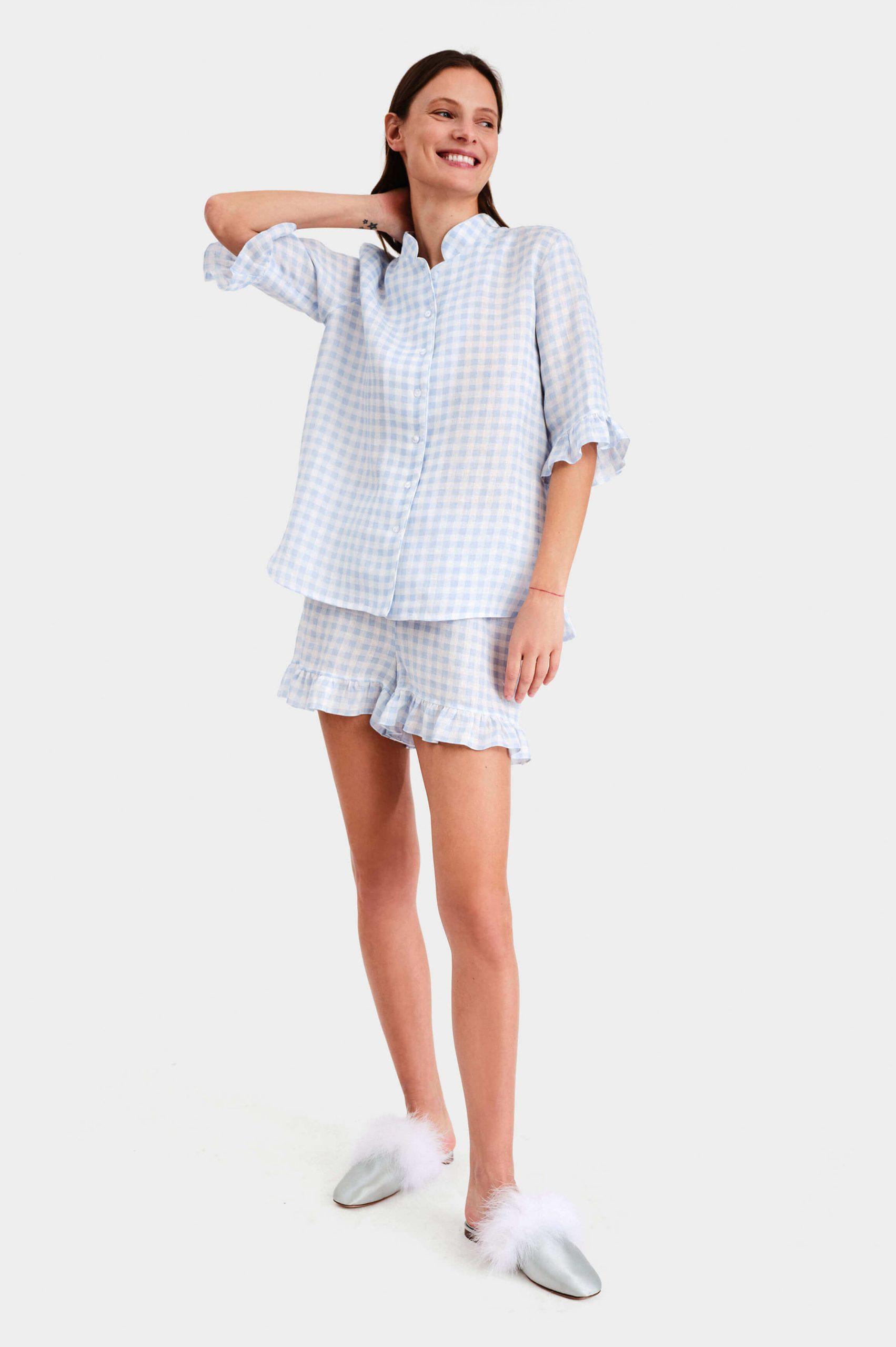 Linen pyjama hoạ tiết