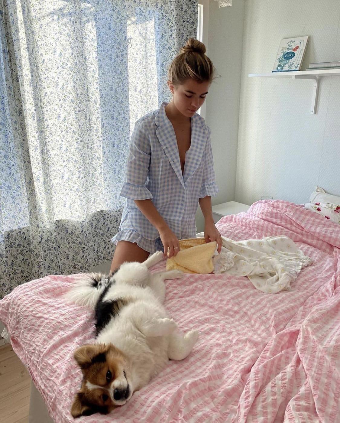Pyjama sọc linen