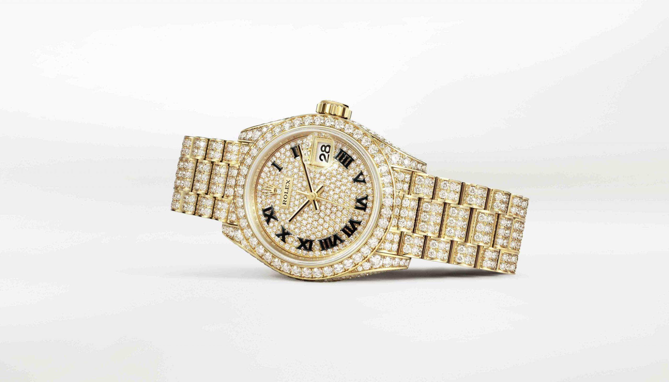đồng hồ nạm kim cương Rolex Oyster Perpetual Lady-Datejust