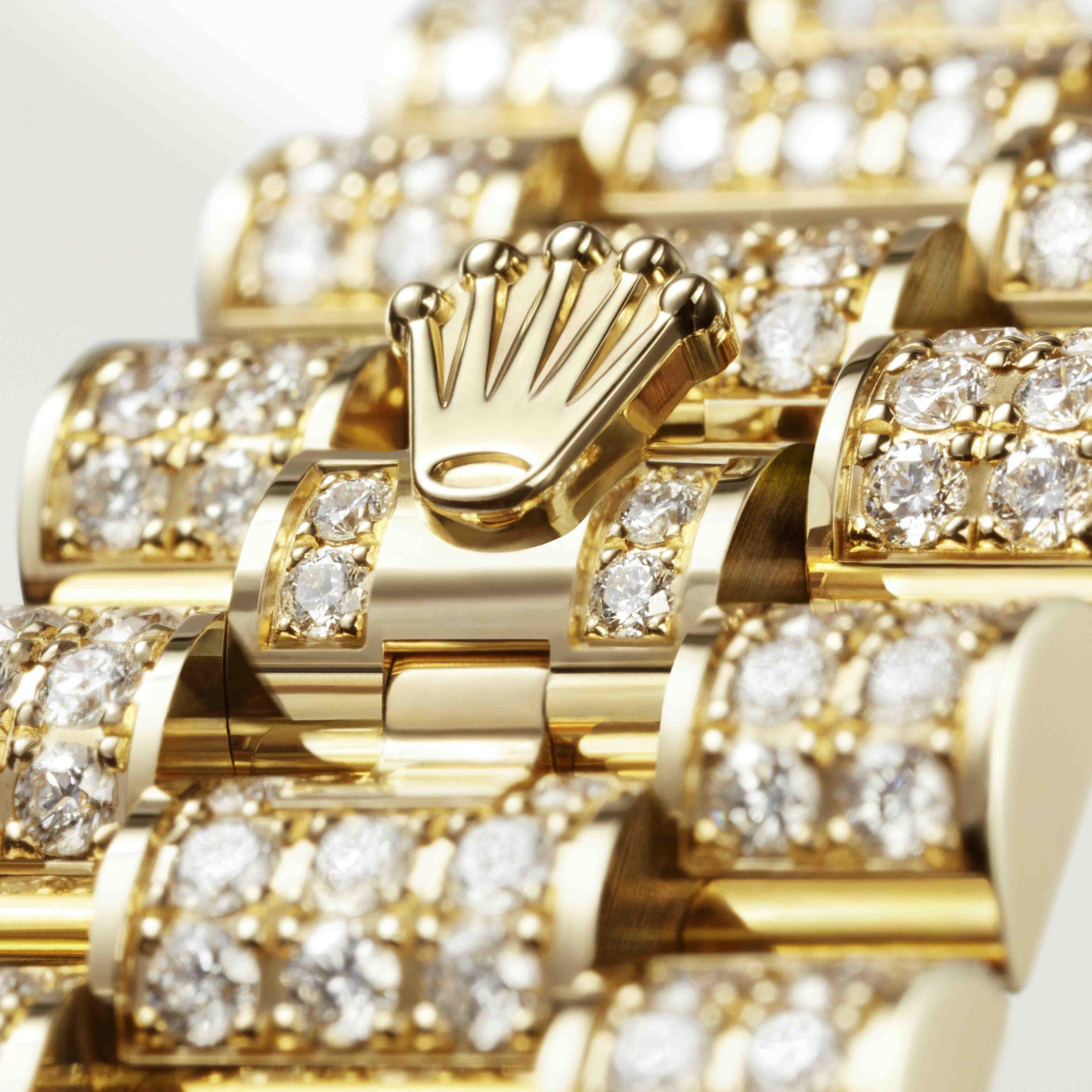 khóa gập của đồng hồ Rolex Oyster Perpetual Lady-Datejust