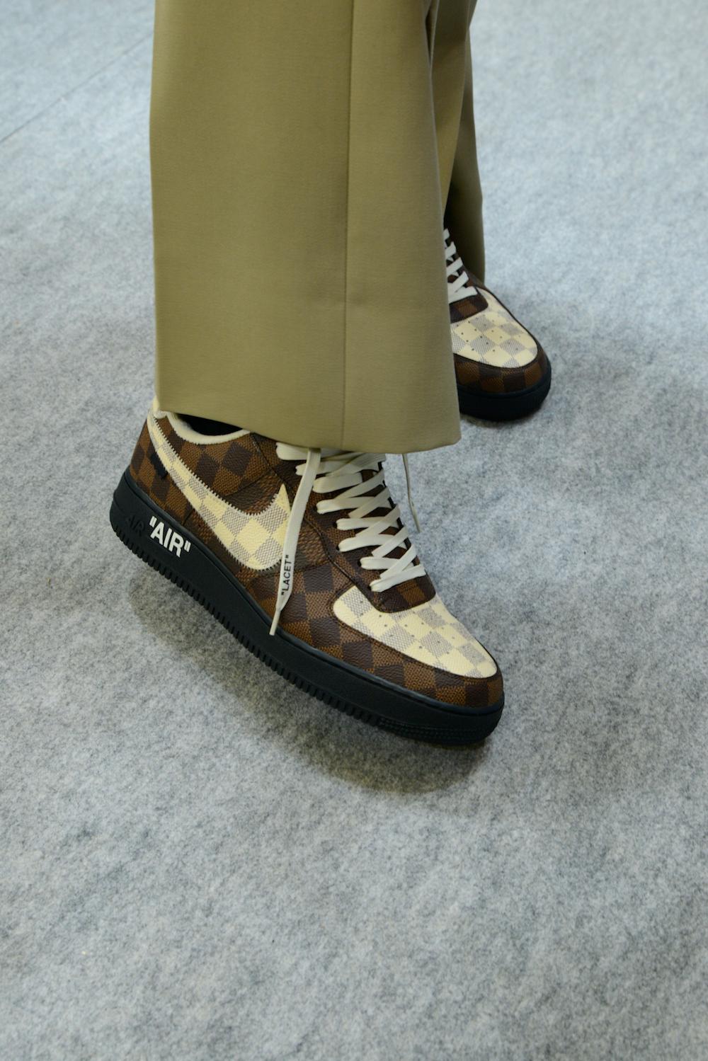 Sneakers Nike hợp tác cùng Louis Vuitton với họa tiết Damier