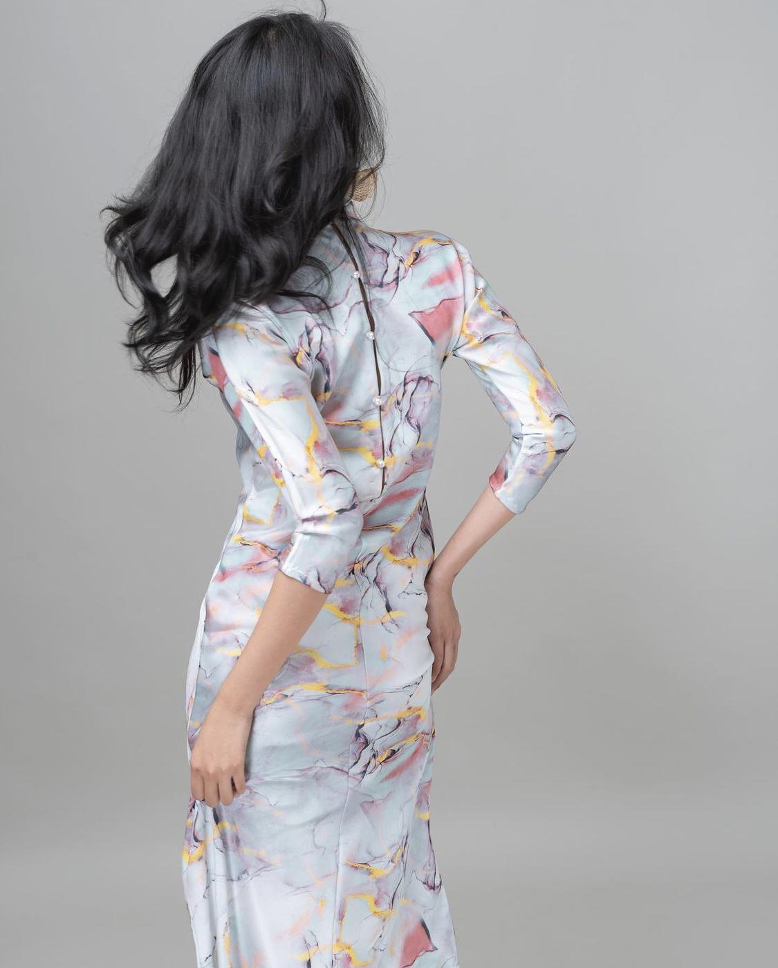 váy in hoạ tiết