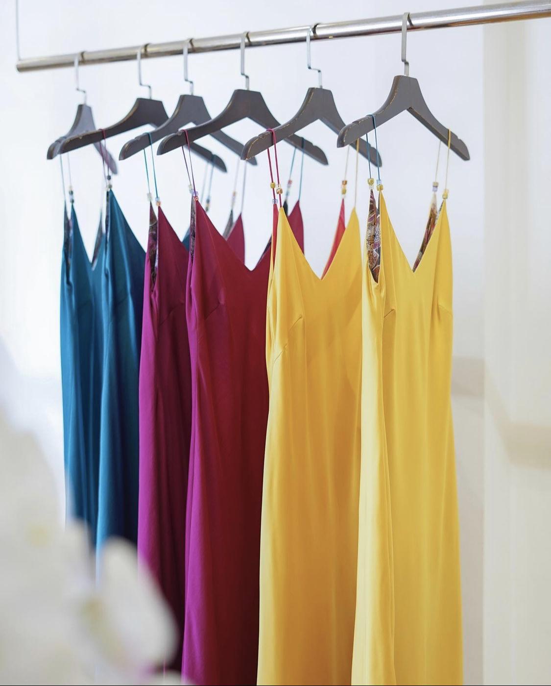 slip dress nhiều màu