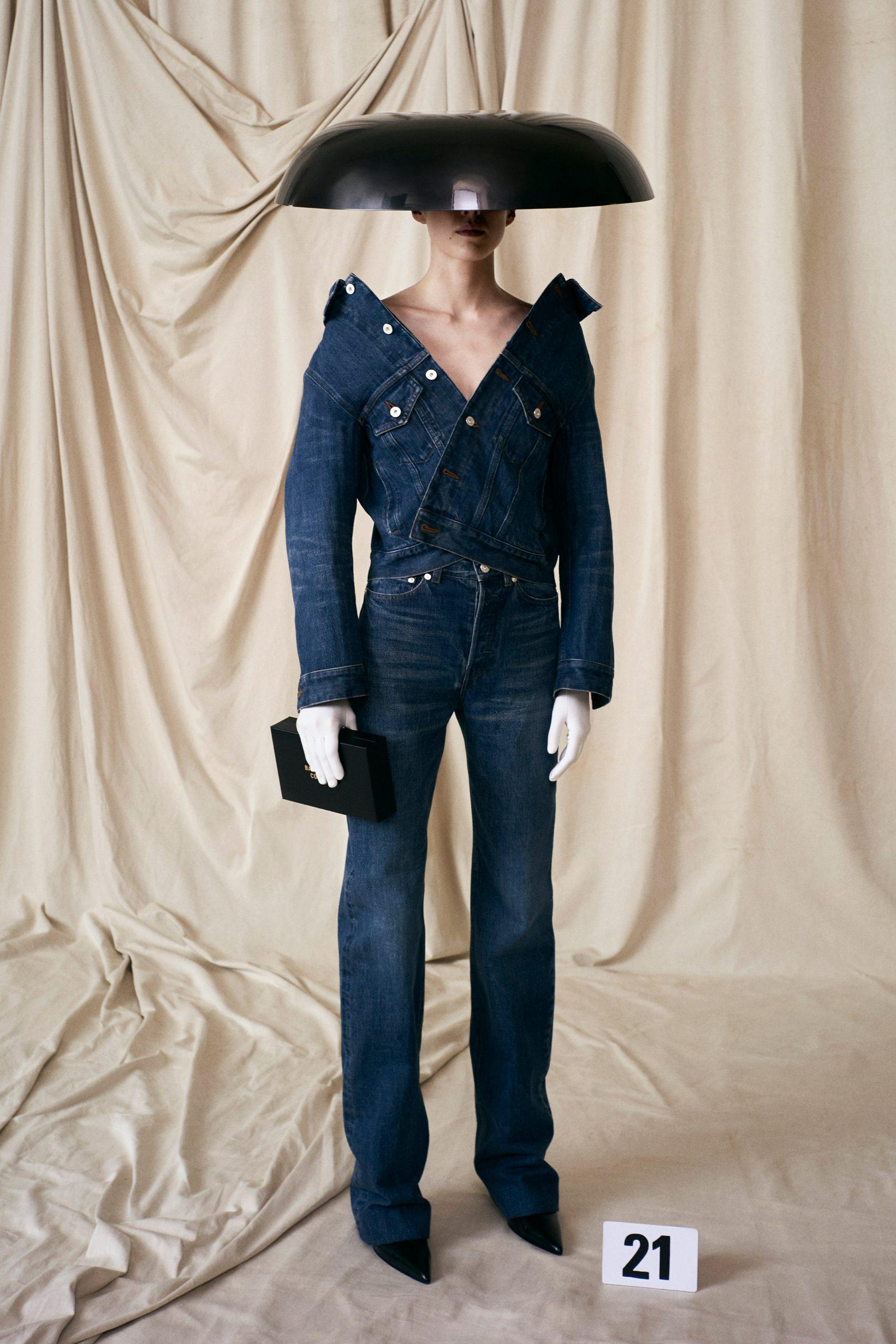 Denim nhật Haute Couture Balenciaga