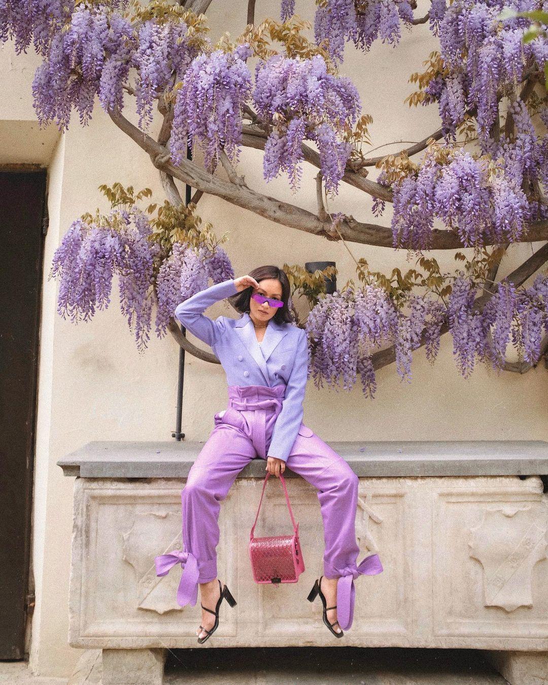 set blazer lavender phối lilac