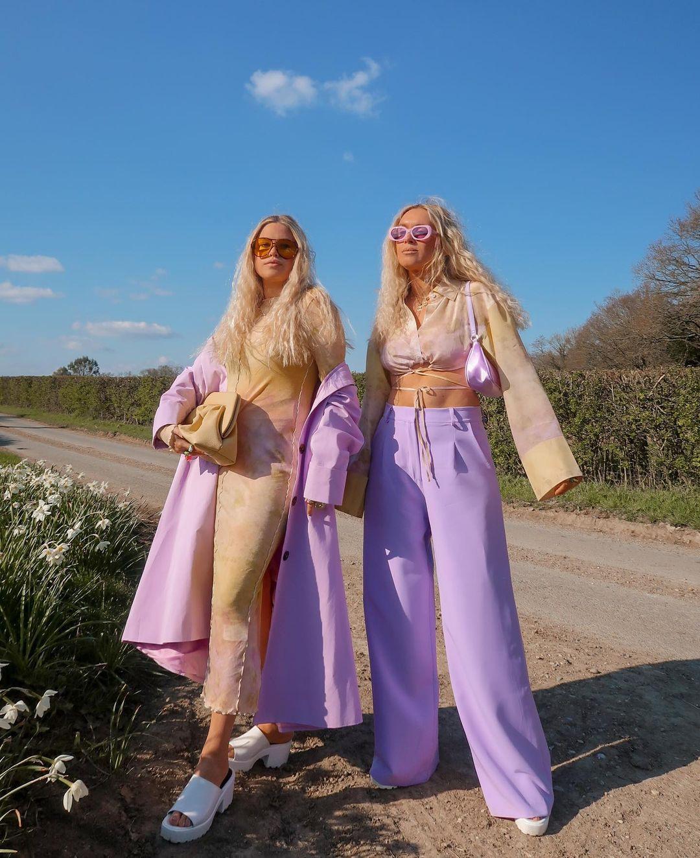 trang phục màu lilac